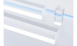 Barra quadra Plexiglas® trasparente 6 mm