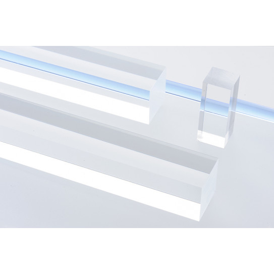 Barra quadra Plexiglas® trasparente