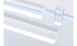 Barra quadra Plexiglas® trasparente 15 mm