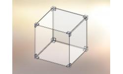 Cubo espositore in Plexiglas® 1x1
