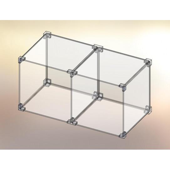 Cubo espositore in Plexiglas® 2x1