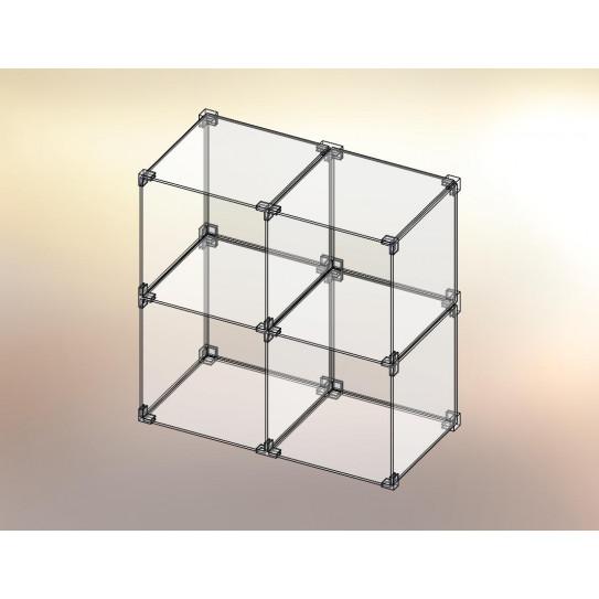 Cubo espositore in Plexiglas® 2x2