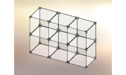 Cubo espositore in Plexiglas® 3x2