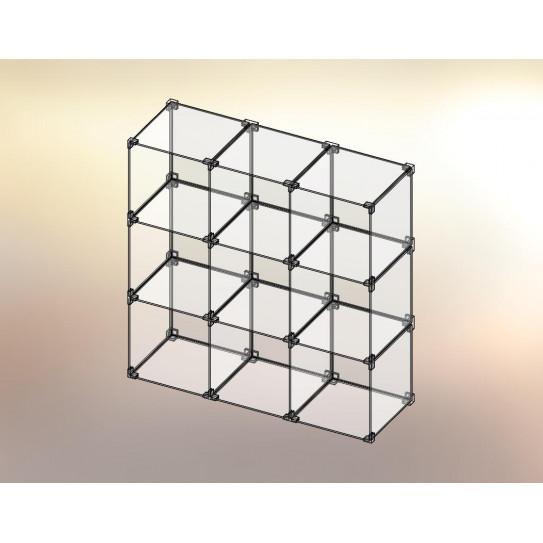 Cubo espositore in Plexiglas® 3x3