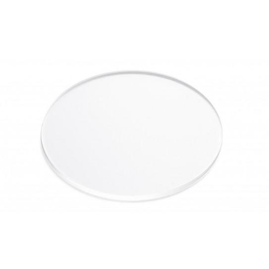 Disco in Plexiglas® trasparente incolore
